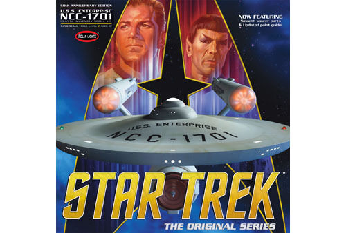 Polar Lights 1 350 Star Trek The Original Series Enterprise NCC1701 50th Anniver