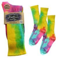 Maggie's Organics Cotton Crew Soft Color Tie Dye Socks Made In Usa Fair Trade