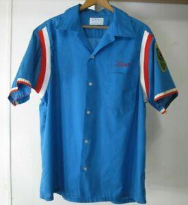 Hilton-Bowling-Shirt-VFW-Pool-League-Lansing-MI-Size-L-16-16-1-2-Vintage