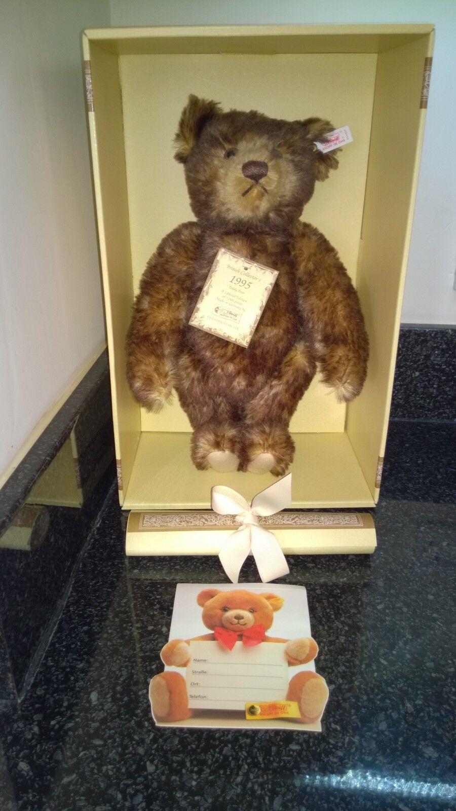 Steiff British Collectors 1995 Teddy Bear Brown Tipped 35 EAN 654404 Ltd Boxed