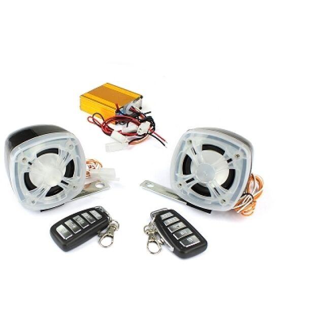 Radio Conjunto Fm con Amplificador y MP3 Conexión, 2 Cajas de Altavoces 120DB