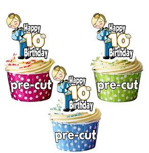 5 Geburtstag Prinz Vorgeschnitten Cupcake Deckel Kuchen Dekoration Jungen Sohn Backzubehör & Kuchendekoration