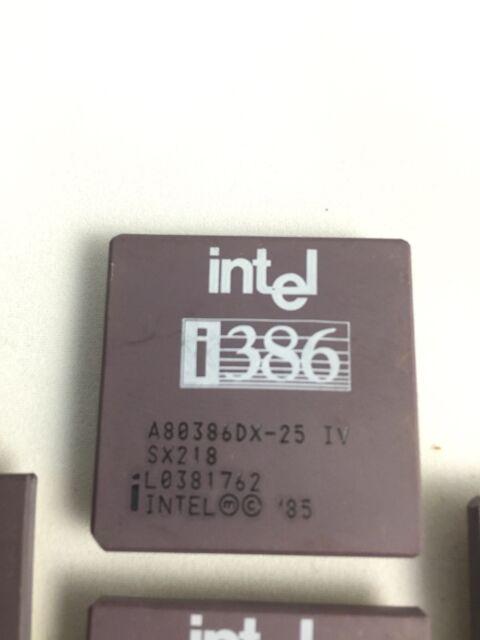 Intel 386DX-25Mhz Gold Ceramic PGA Processor Chip i386 80386 386DX 386 CPU Chip