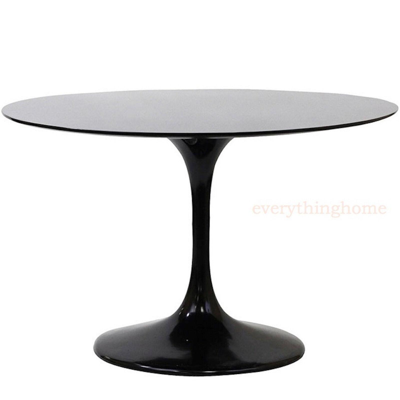 Black Modern Tulip Style Dining Table