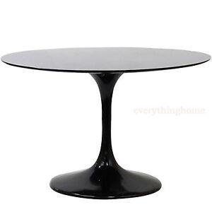 """60"""" Round Black Modern Saarinen Style Tulip Dining Table ..."""