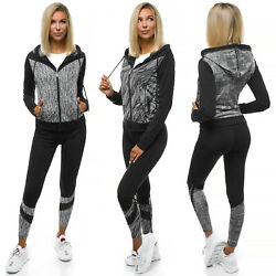 Sportanzug Trainingsanzug Hausanzug Hoodie Hose Sweatshirt OZONEE O/8697 Damen
