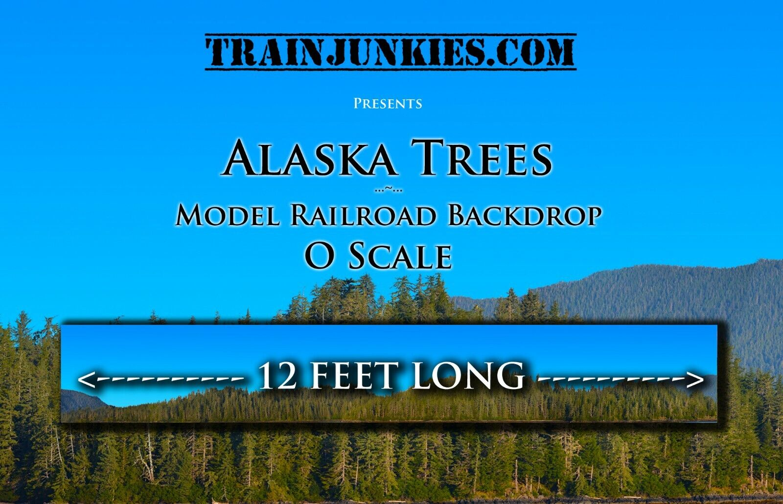 Train Junkies O Scale  Alaska Trees  Modelll Railroad Backdrop 24 x144