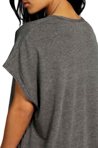 Womens Baggy Batwing Loose T shirt Tracksuit Ladies Hi low Loungewear Set Top