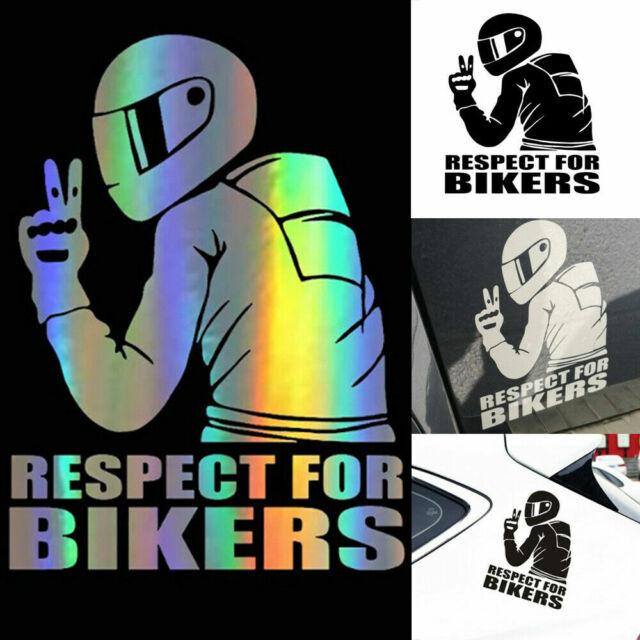 Reflective RESPECT FOR BIKERS Waterproof Biker Motorcycle Decal Car Sticker DIY