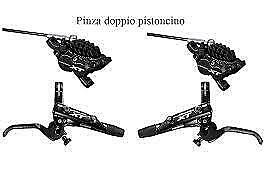 NEW 2020 S//DISCHI KIT FRENI ANT+POST IDRAULICI SHIMANO XT M8120 quattro pist