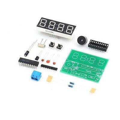 1PCS AT89C2051 Digital 4 Bits Electronic Clock Electronic Production Suite Kit