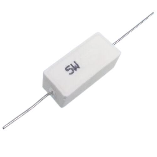 US Stock 10pcs 0.01 ohm 0R01ΩJ 5 watt Axial Ceramic Cement Power Resistor 5W