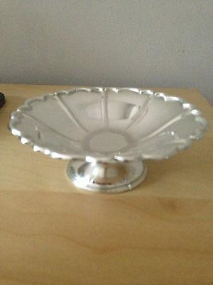 Stunning asprey & c0 solid silver nut dish assayed sheffield c2000 exquisite