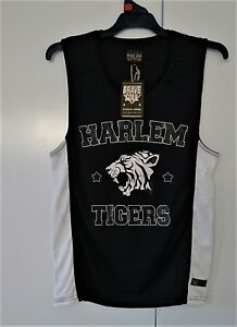 Mens Authentic American Sport T Shirt Top Singlet Harlem Tigers ... 8909d4a09b7