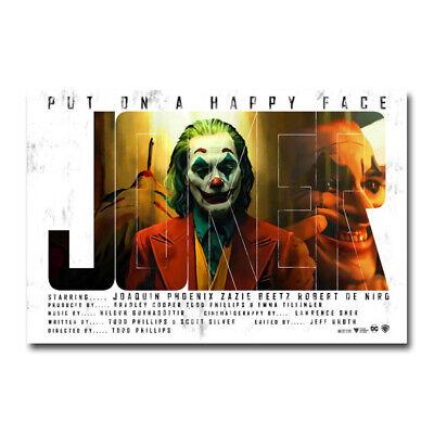 The Joker Hot Movie Art Silk Canvas Film Poster Wall Art Print 12x18 24x36 inch