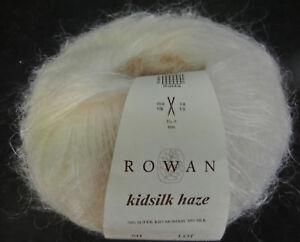 55-80-100-g-25-g-Rowan-KIDSILK-HAZE-Farbe-Sh-634-wollweiss-Lot-3401-3686