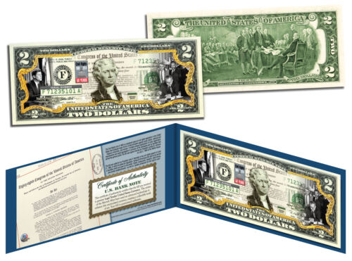 CIVIL RIGHTS ACT OF 1964 *50th Anniversary* Legal Tender U.S Colorized $2 Bill