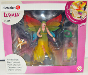 Bayala-Rainbow-Elf-Meena-with-Flying-Squirrel-Figurine-Schleich-Figure-41437
