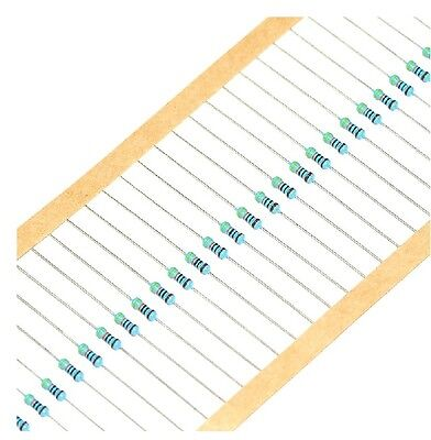 100PCS 10KΩ 10K Ohm 1//4W 0.25W 1/% accuracy Metal Film Resistors RoHS R-MF