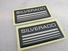 Custom Epoxy Resin Silverado Emblem Pillar Cab Badge 2pcs