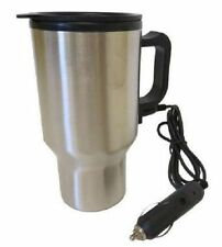 Stainless Steel Heated Auto Travel Mug 16oz 12V  Cigarette Lighter Cup Holder