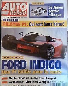 Auto Hebdo 1017 / 17 Janv 96 : Monte Carlo Grenade Dakar Andros Isola Delecour à Distribuer Partout Dans Le Monde