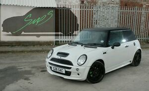 Mini-Cooper-S-JCW-Beltline-Tape-R50-52-53-De-chrome-MATTE-BLACK-2001-2006