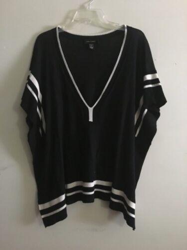 Kabel Poncho Gauge Kvinder M Størrelse Sweater Creme Batwing Cardigan Sort Cape qA7qxpwHn