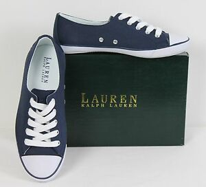 Fashion Canvas Nwb Lauren Athletic Polly Sport Sneakers Casual Ralph n6YRnS4