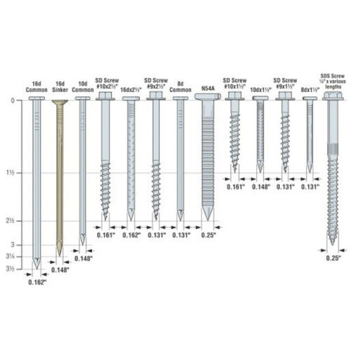 """Simpson Strong-Tie SDS25500-R10 5/"""" x .250 Structural Screws 10ct"""