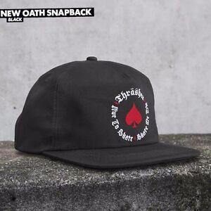 5eaa393aa4e Image is loading Thrasher-Magazine-UNSTRUCTURED-OATH-Snapback-Skateboard-Hat -BLACK-