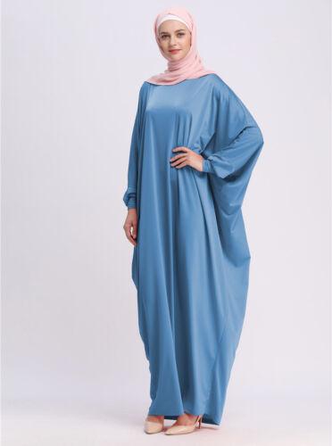 Abaya Muslim Women Maxi Dress Islamic Loose Kaftan Jilbab Vintage Cocktail Robe