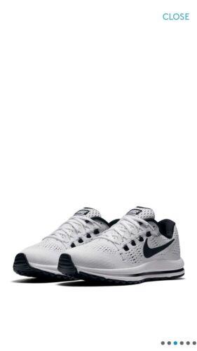 Zapatillas blanco 86376 entrenamiento de Sz Nike Air mujer 100 12 Vomero negro para Zoom rFr1wxz4