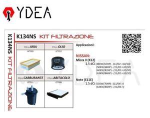 Inspektionskit Filter Für Nissan Micra II K12 1.5 DCI Note E11E - Ydea