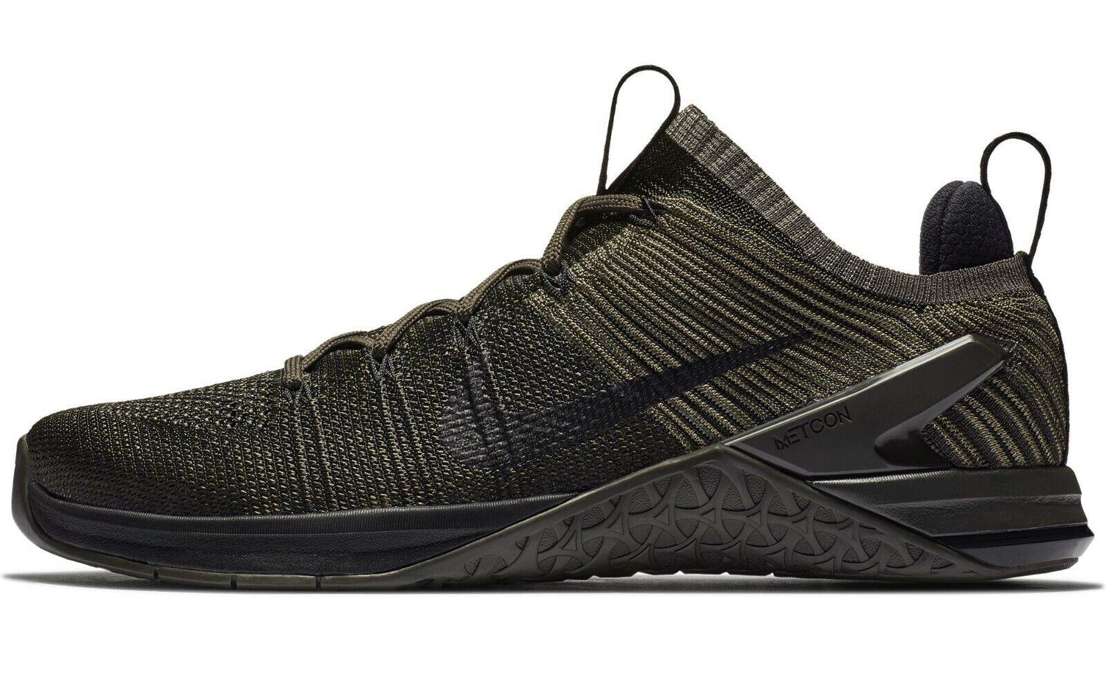 Nike Metcon DSX Flyknit 2 Size 12 Training Dark Stucco Black 924423-008 Mens