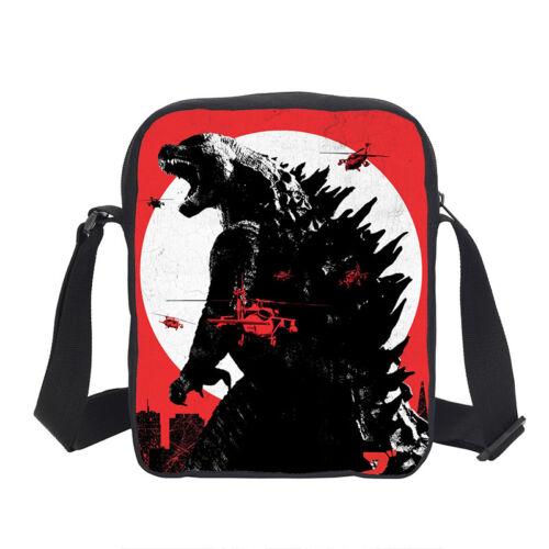 S//3 Cool Godzilla Kids Large School Backpack Shoulder Bag Pencil Case Wholesale