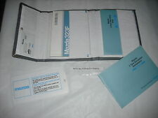 A GENUINE  MAZDA 323 323F BA  OWNERS INSTRUCTION HANDBOOK AND WALLET ETC 1996