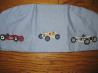 Pottery Barn Kids Blue Easter Liner Racecar Small Large