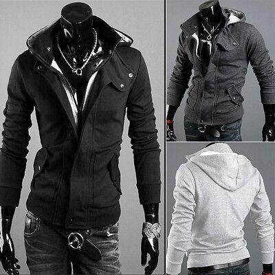 Casual Mens Warm Winter Coat Slim Fit Hooded Sweater Jacket Sweatshirt Cardigan
