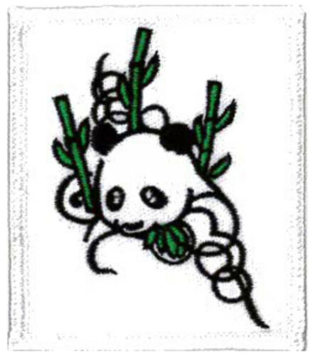 """2 1//2 X 2 3//4/"""" PANDA EMBROIDERED PATCH 6 X 7CM"""