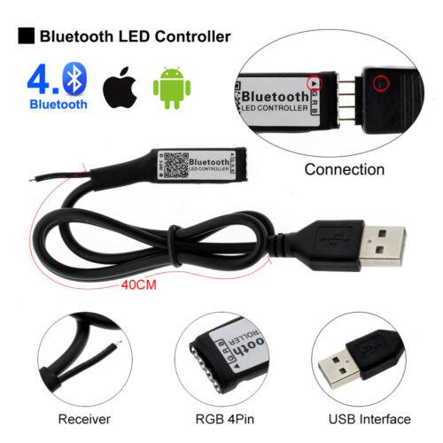 Blue tooth Controller TV Backlight DC5V 5050 RGB LED Strip Set USB Tape String
