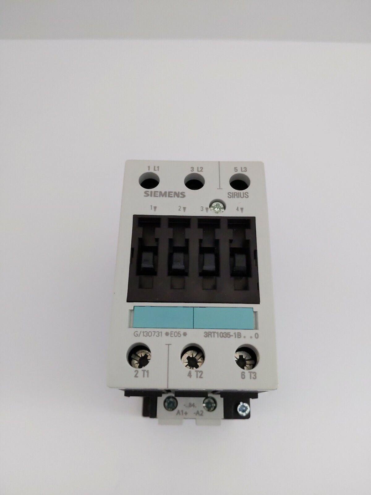 Siemens 3RT1035-1BB40 24 VDC Coil Motor Starter 3RT10351BB40 3RT1035-1B..0 TSC