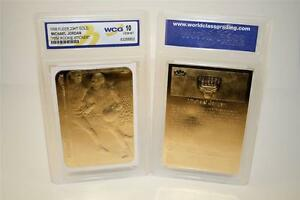 MICHAEL-JORDAN-1986-Fleer-ROOKIE-STICKER-23KT-Gold-Card-GEM-MINT-10-BOGO