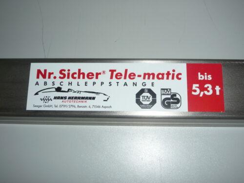Sicher-Tele-matic  5000 Hans Herrmann bis 5000 KG  5,0 t Abschleppstange Nr