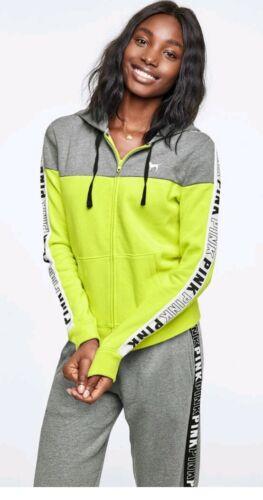 New Victoria secret ~Pink~ large  full zip hooded sweatshirt Women/'s L