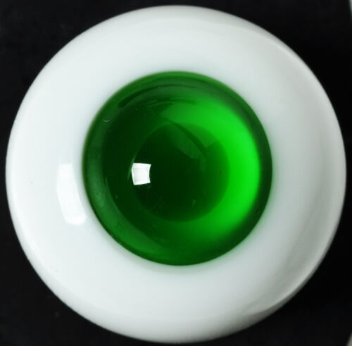 Nice 18mm Grass Green Iris/&Pupil Glass BJD Eyes for Reborn//newBorn BJD Doll