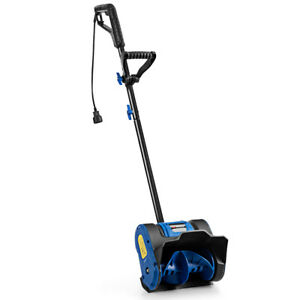 12-Inch-9-Amp-Electric-Corded-Snow-Shovel-Driveway-Yard-Snow-Thrower-Blue