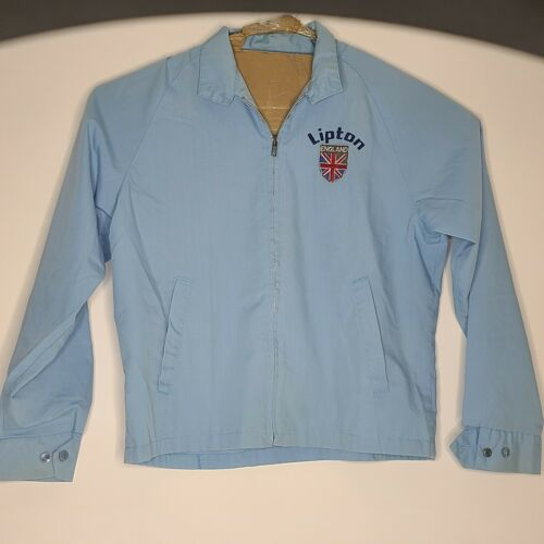 Vintage Lipton Tea England Light Jacket Blue Size