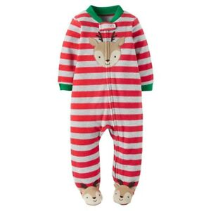 e78cddd35419 Carter s Baby Boys  Fleece Sleep N  Play Red Stripes Christmas ...