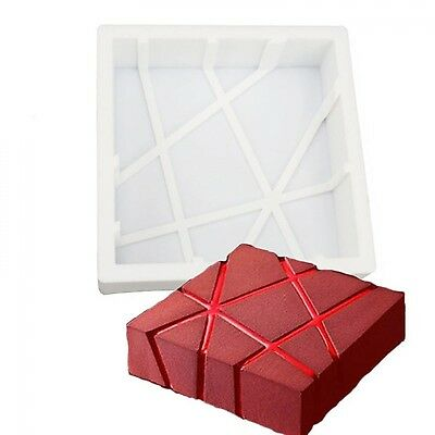 Silicone 3D Geometric Square Mold Cake Decorating Baking Tools For  Chocolate